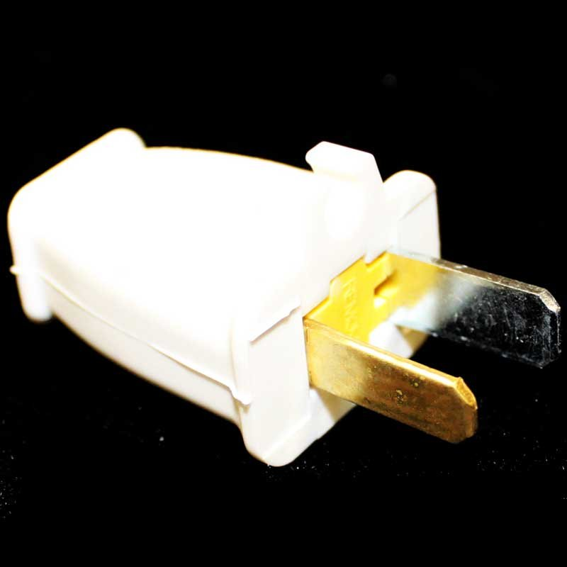 2-Wire Plug White Plug