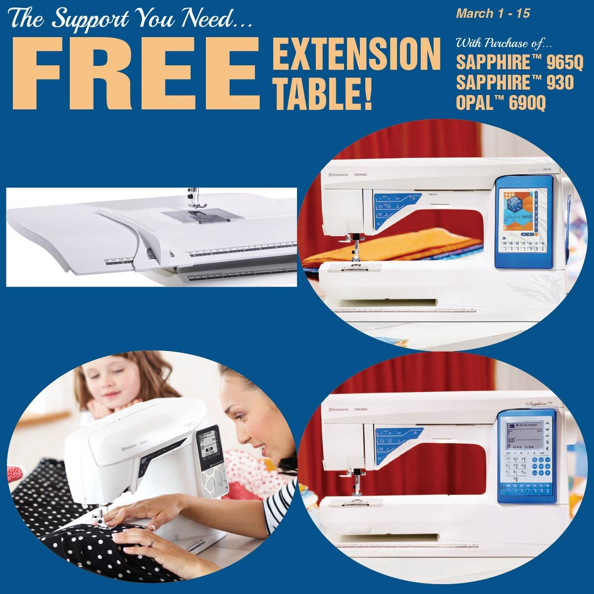 Free Extension Table with purchase