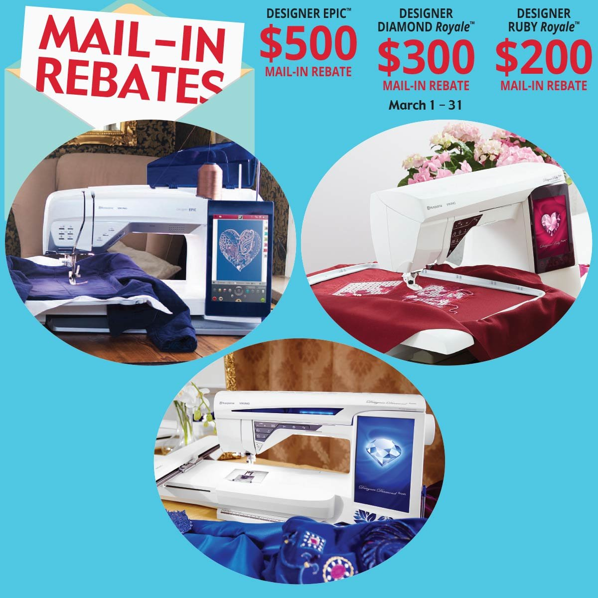 March Mail-in Rebates!