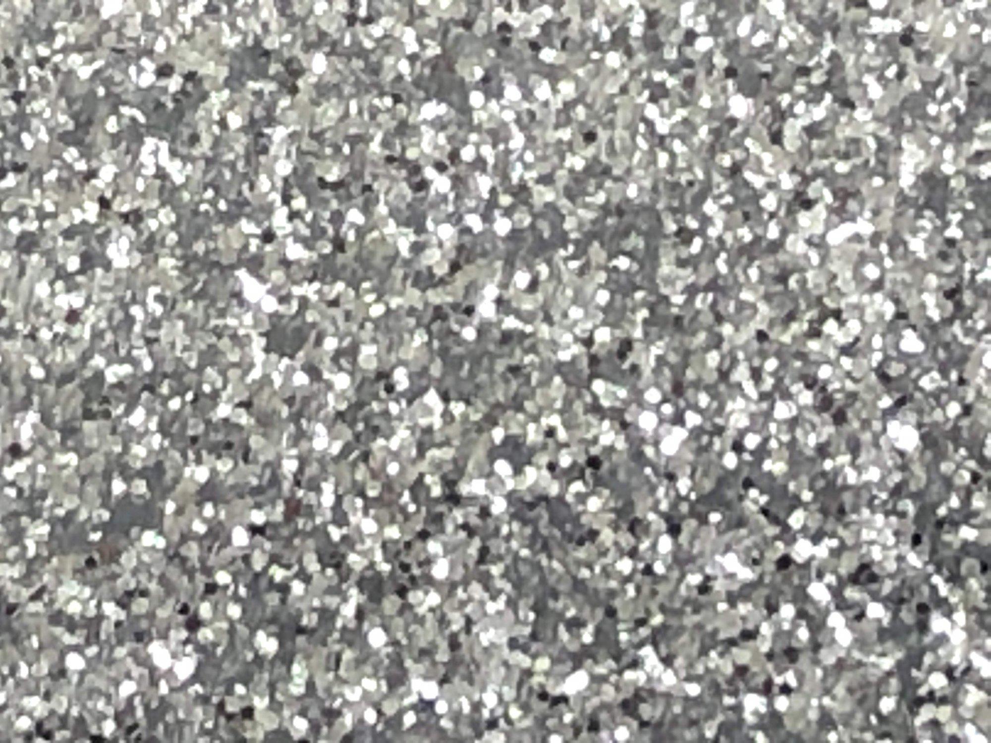 Stahls' Silver Glitter Flake Heat Transfer Vinyl 12 x 20