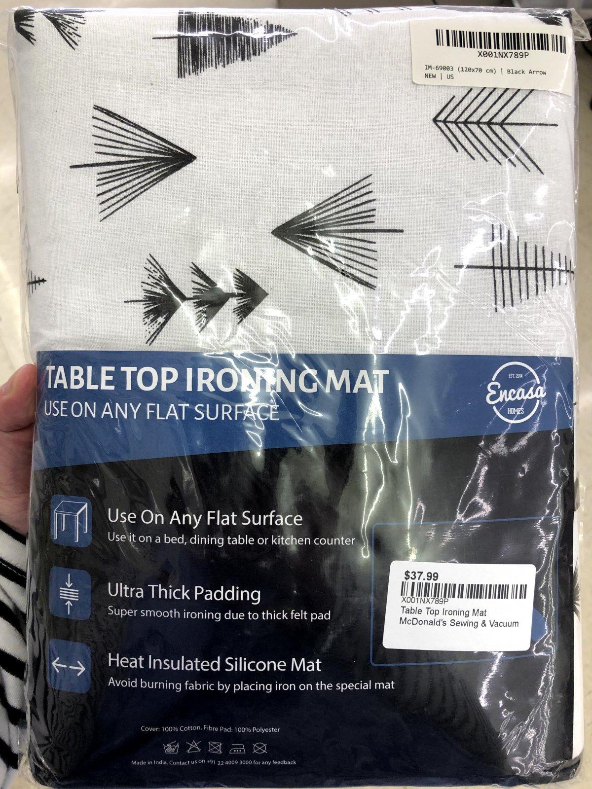 Table Top Ironing Mat