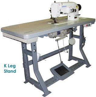 Industrial K Leg Stand with Table, Servo Motor & Pedal