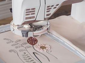 ribbon embroidery attachment capability