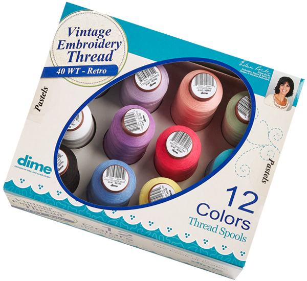 DIME Vintage 15 Weight Embroidery Thread Earth Tones Assorted 12 Pack