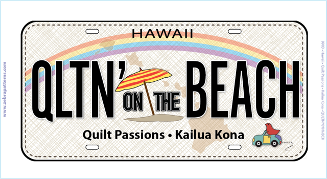 License Plate - Quilt Passions - 2017