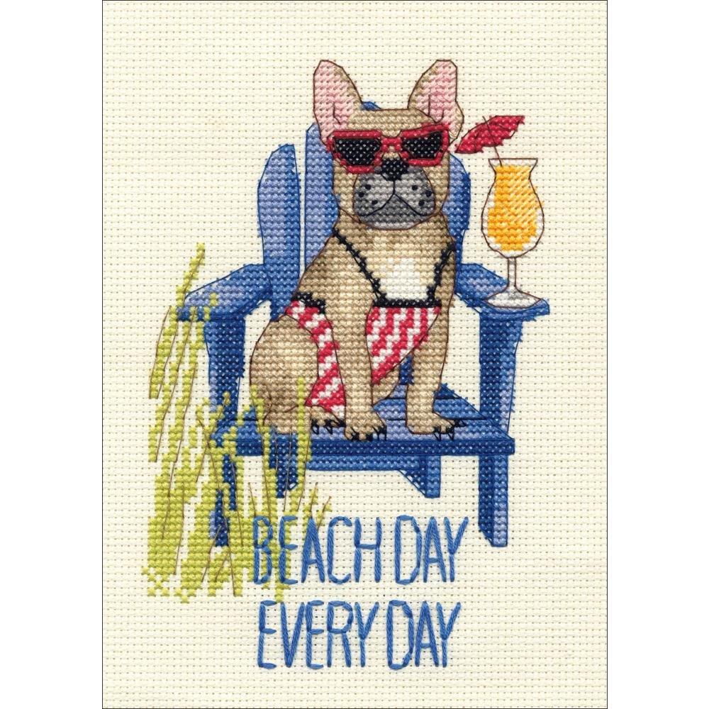 Beach Day Counted Cross Stitch Kit