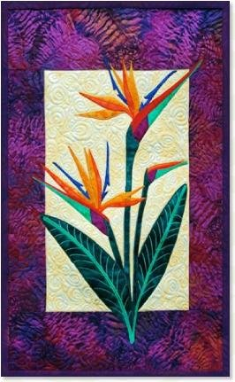 Bird of Paradise  quilt pattern by Zebra  - kit