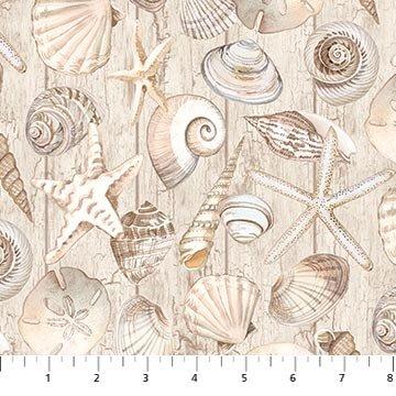 Northcott Coastal Christmas 23427-12 Shells