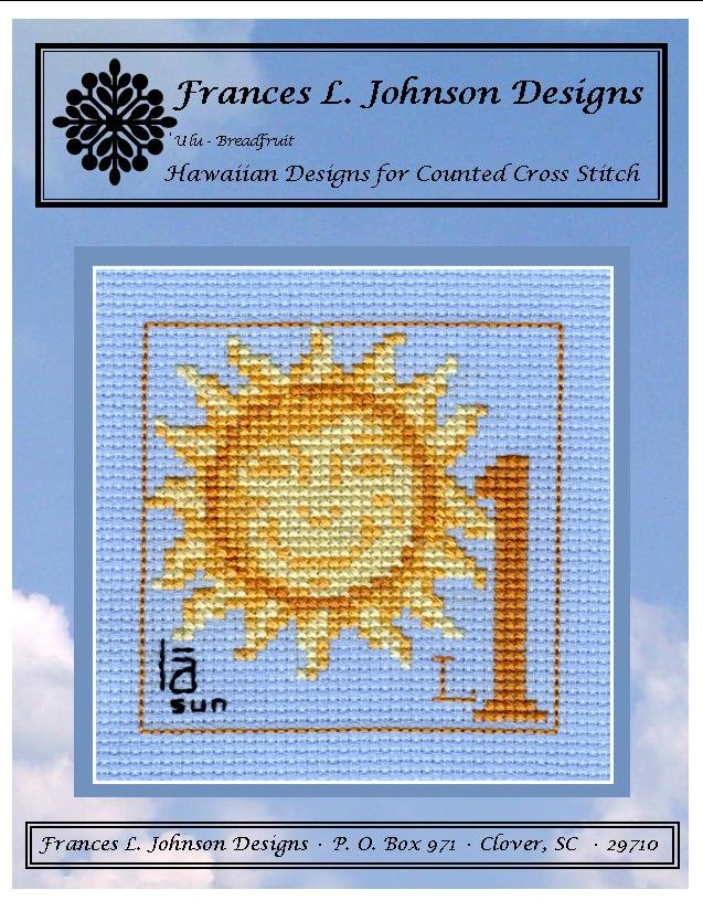 l1 - la (sun) Counted Cross Stitch Pattern by Frances L. Johnson