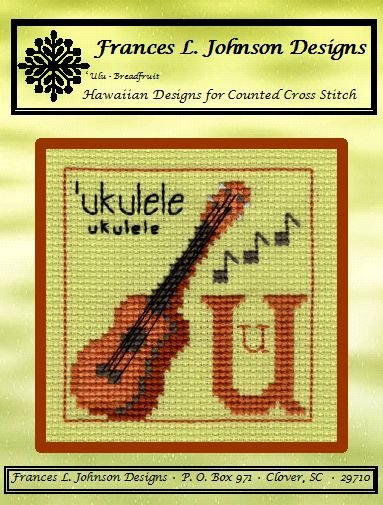 U - 'ukulele Counted Cross Stitch Pattern by Frances L. Johnson