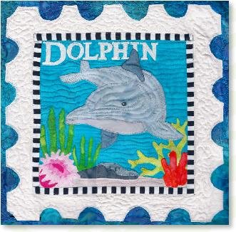 Dolphin quilt pattern by Zebra - kit