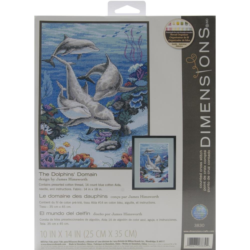 Dolphins' Domain Counted Cross Stitch Kit