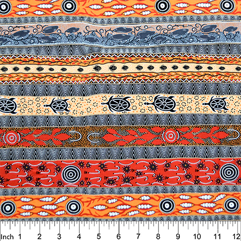 M&S Textiles DROFO (Dreaming in One Flame Orange)