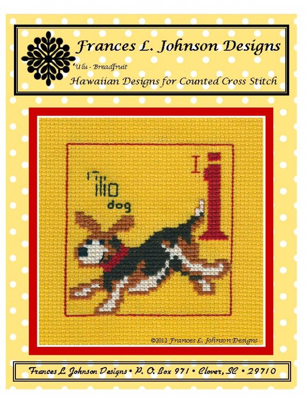 I - Ilio (dog) Counted Cross Stitch by Frances Johnson