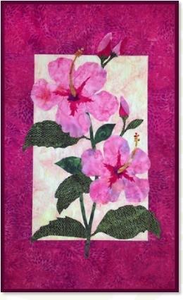 Hibiscus  quilt pattern by Zebra
