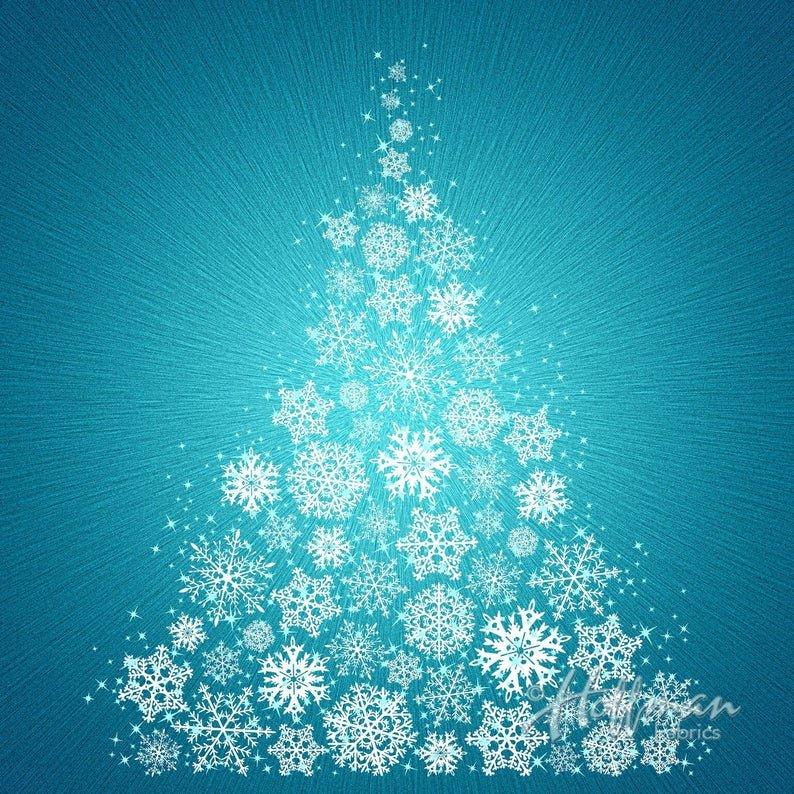 Hoffman Supernova Christmas Tree Panel P4372 Color 61 Turquoise
