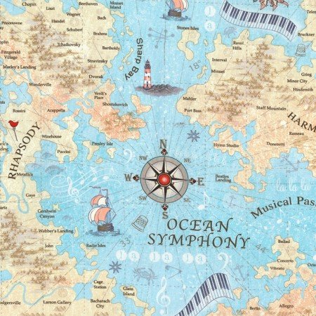 Music map fabric map with music themed countries and cities gumiabroncs Image collections