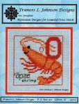 O - Opae (Shrimp) Counted Cross Stitch Pattern by Frances L Johnson