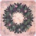 Hawaiian Applique Pattern - Ohia Wreath - by Raintree Hawaii