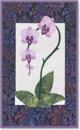 Orchid  quilt pattern by Zebra