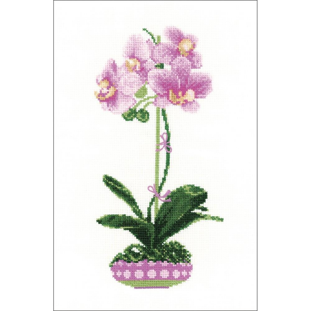 Orchids Counted Cross Stitch Kit 8.25 x 11.75