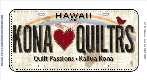 License Plate - Quilt Passions - 2016