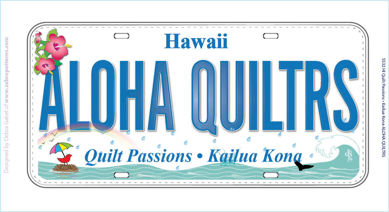 License Plate - Quilt Passions - 2015