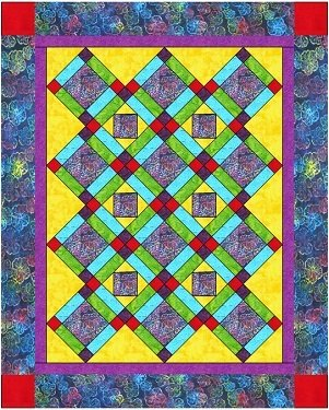 Rainbow Hibiscus Pattern