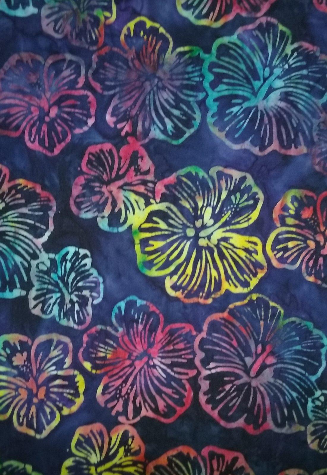 Rainbow Hibiscus Fabric