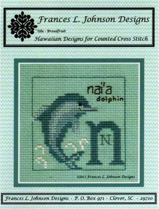 N - Nai'a (Dolphin) Counted Cross Stitch Pattern by Frances L. Johnson