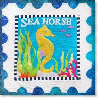 Sea Horse quilt pattern kit by Zebra