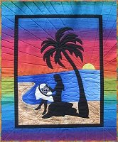 Sunset Quilting Wall Hanging Quilt