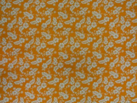 Traditional Hibiscus Fabric-Orange