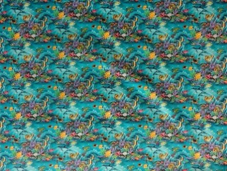 Underwater Aquarium Fabric-Aqua