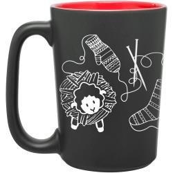 Knit Happy Scribbles Mug