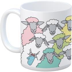Knit Happy Colorful Sheep Mug