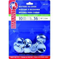 Maxant Button Cover Button Kit-Size 36 7/8 6/Pkg