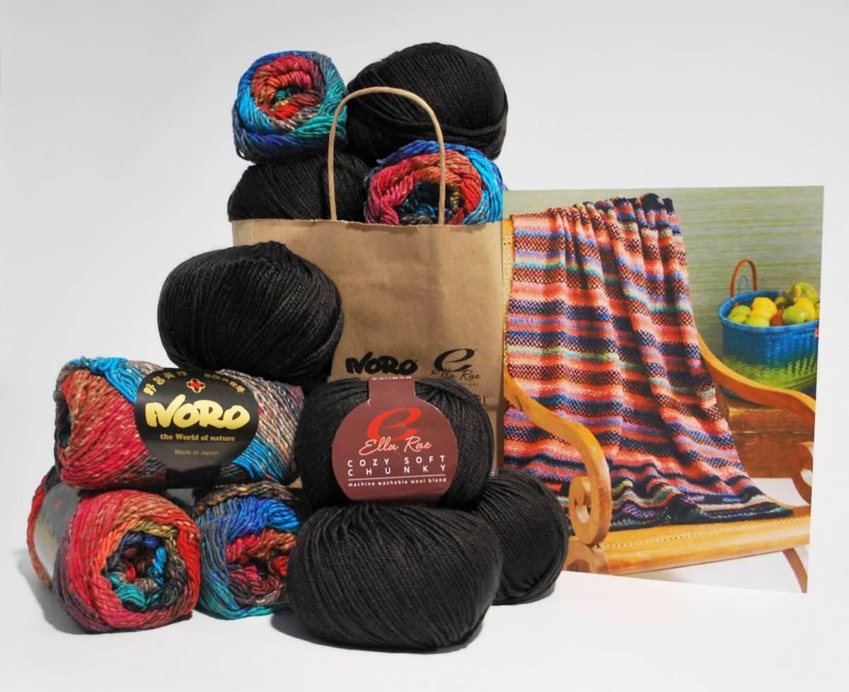 Noro & Ella Rae Woven Stitch Blanket Kit