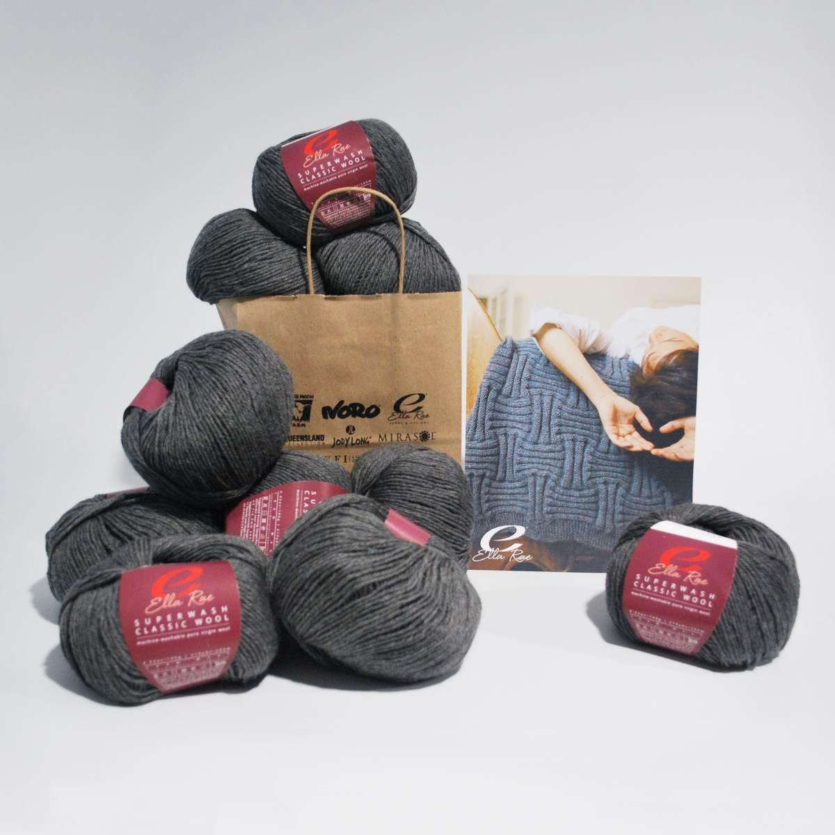 Basketweave Throw in Ella Rae Classic Superwash Wool