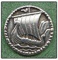 Viking Ship Pewter Buttons
