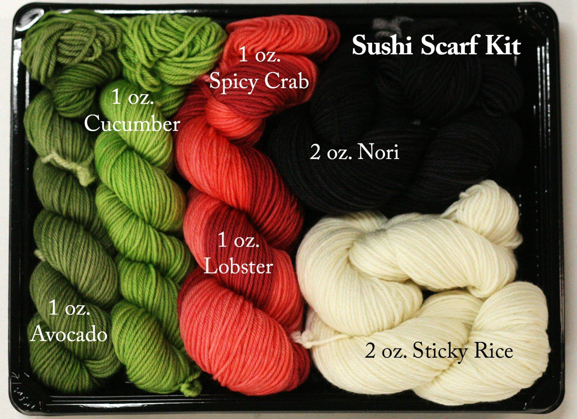 Wonderland Yarns Sushi Scarf kit