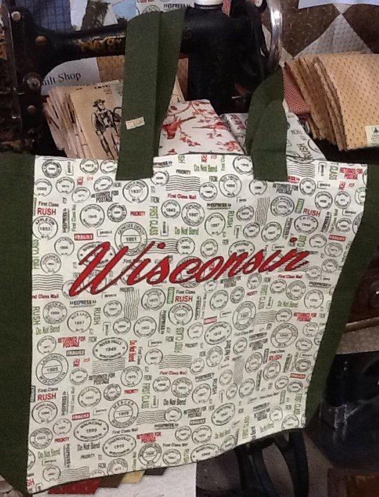 Quilt Wisconsin bags 2014