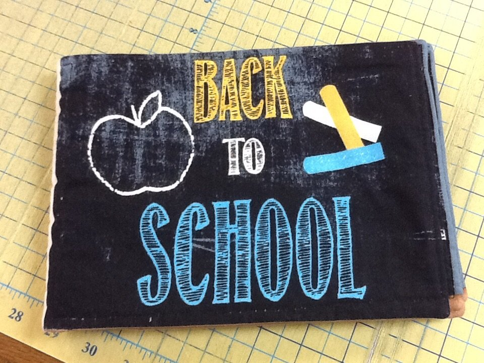 School Days quilted book