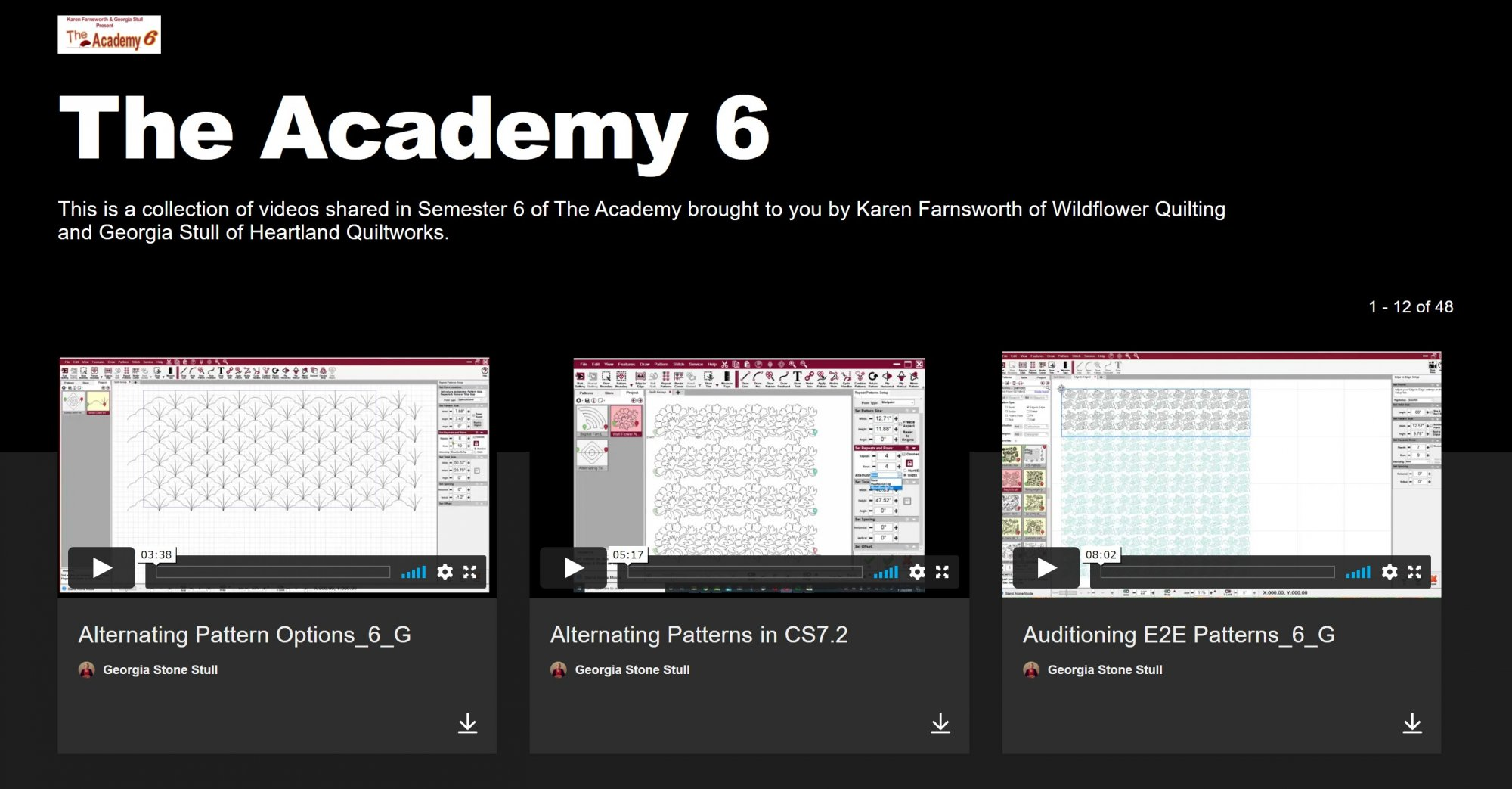 Academy Video SHOWCASE--Semester 6 (June-December 2020)