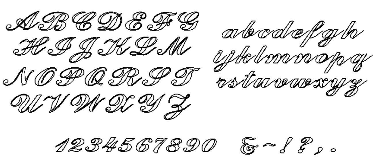 Alphabet CScript Set