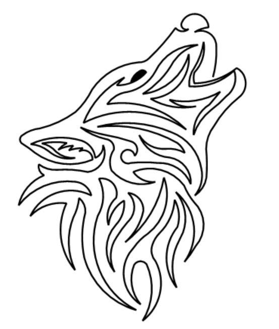 Howling Wolf Motif