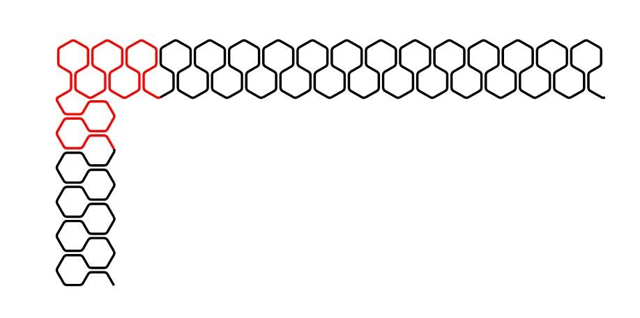 Nested Hexies Border and Corner Set