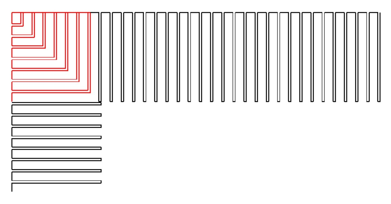 Piano Key Double Line Border and Corner