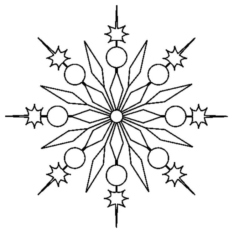 Sparkling Snowflake Motif