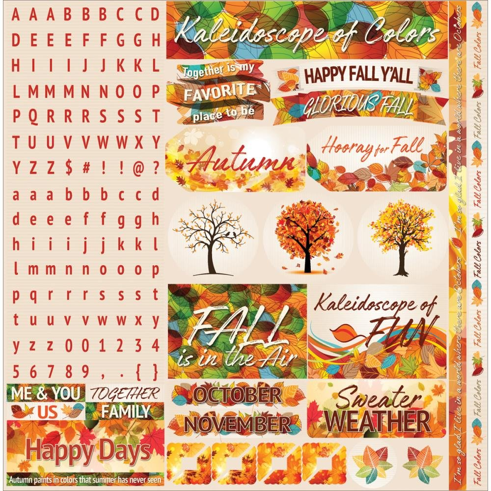 AUTUMN INSPIRED - Die Cut Stickers